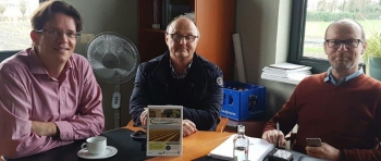 Transfer and Groencreatie representatives with PCG director mr de Reycke