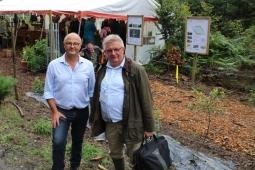 Mulching demostrado en Demo Forest feria, Belgica